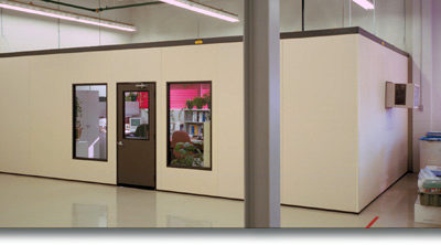 Engineering Office with Larger Surveillance Windows