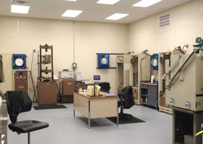 Interior of Destructive Test Lab