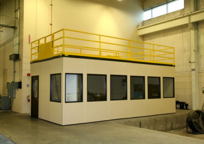 Control Room with Storage Roof, Guardrail and Loading Gate