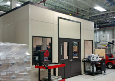 CMM Room with Removable Transom Panel above Doors