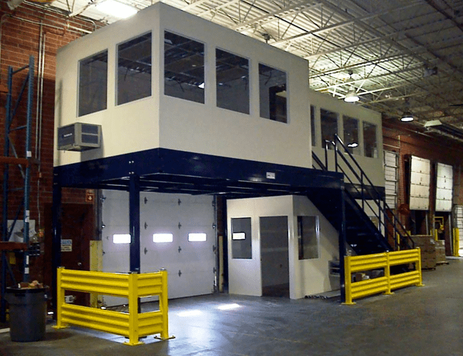 Mezzanine Offices above Receiving Door