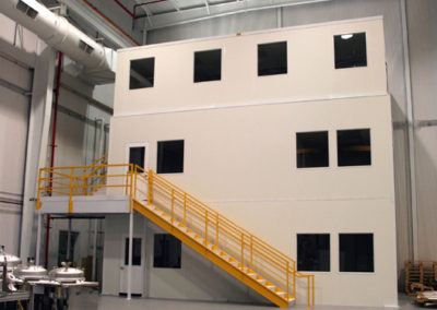 Three Story Mezzanine Supported Offices
