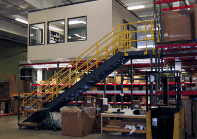 Mezzanine Office Above Inventory