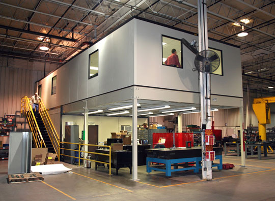 Mezzanine Offices above Maintenance Area