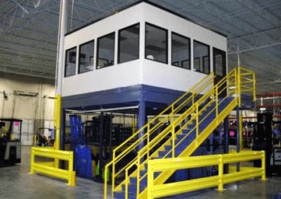Mezzanine Office above Caged, Secure Storage