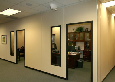 Modular Office Walls Create Executive Offices