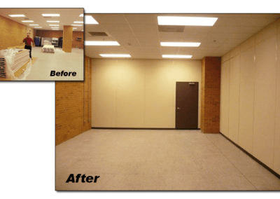Modular Office Walls Separate Area of Larger Room